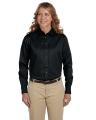 Harriton® Ladies' Easy Blend TM Long-Sleeve Twill Shirt with Stain-Release