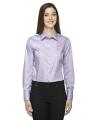"North End® Ladies' Boulevard Wrinkle-Free Two-Ply 80"" s Cotton Dobby Taped Shirt with Oxford Twill"