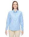 North End® Ladies' Align Wrinkle-Resistant Cotton Blend Dobby Vertical Striped Shirt