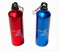 22 oz. Aluminum Outdoor Sport Bottle with Carabineer - Red